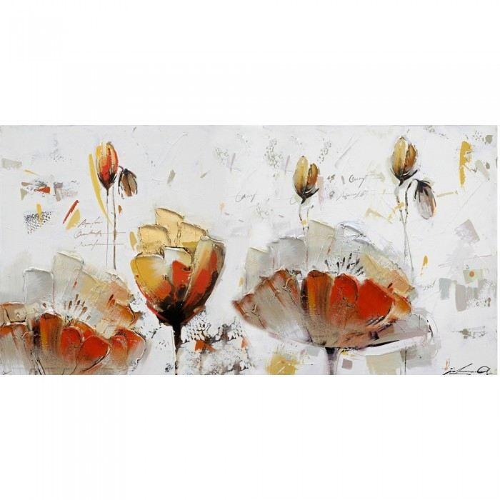 Tableau peinture l 39 huile flower sisters coule achat for Peinture a tableau