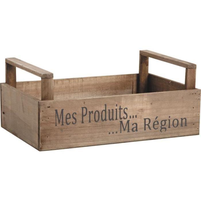 Corbeille en bois teint achat vente casier pour for Corbeille en bois flotte