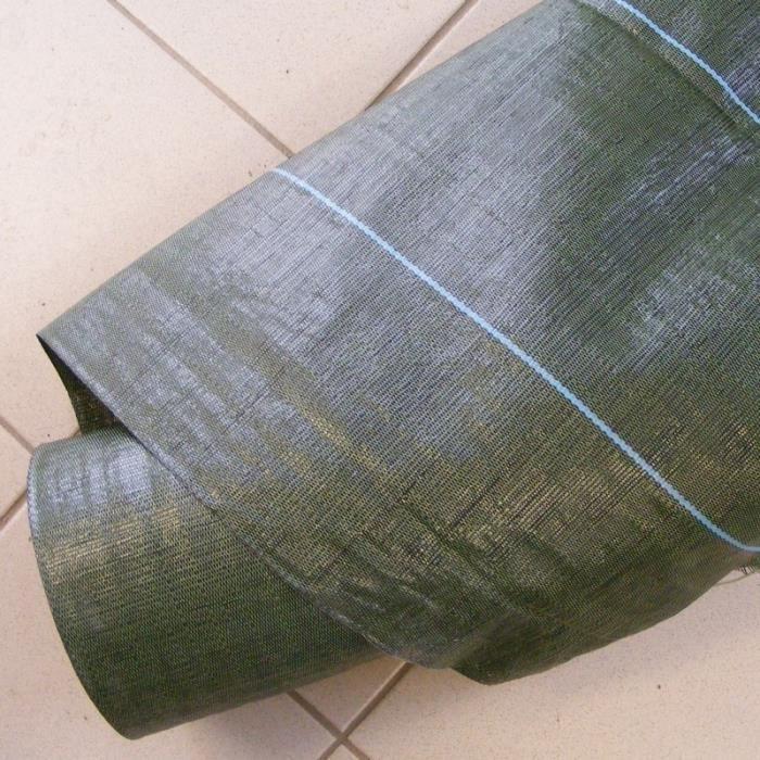 Toile tiss e verte pour paillage de haie d 39 arbustes l 1 for Toile verte pour jardin