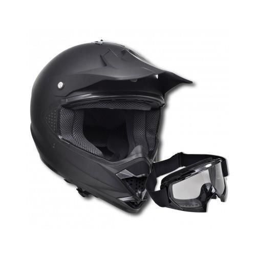 casque de moto noir m sans visi re avec lunette moto achat vente casque moto scooter casque. Black Bedroom Furniture Sets. Home Design Ideas