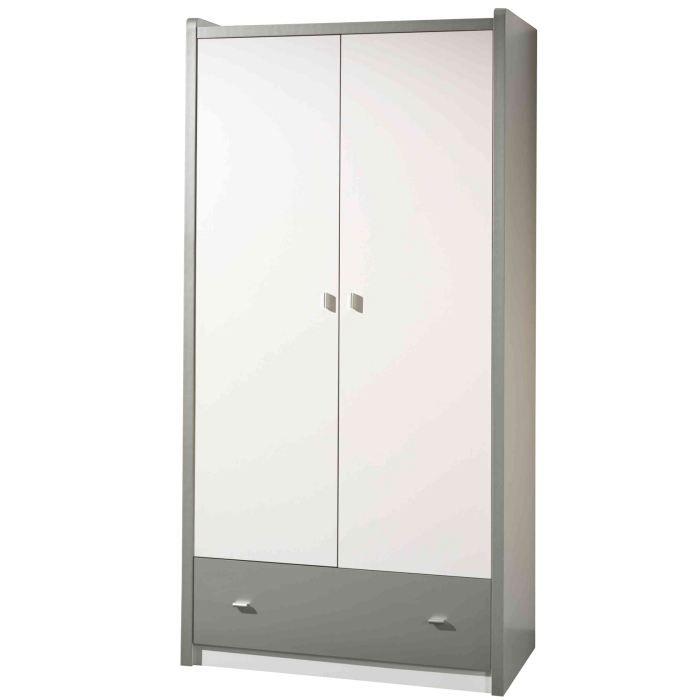 Armoire swithome mindy 2 portes argent achat vente - Comment ranger son armoire a linge ...