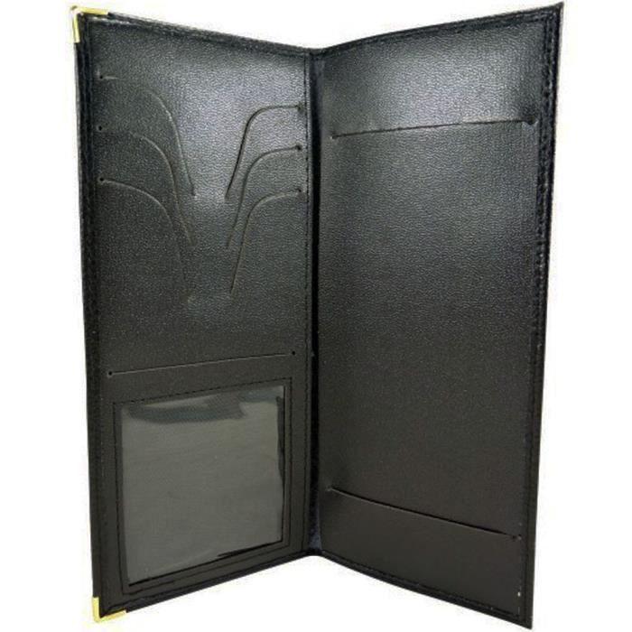 porte ch quier longue porte carte pi ce d 39 identit en cuir. Black Bedroom Furniture Sets. Home Design Ideas