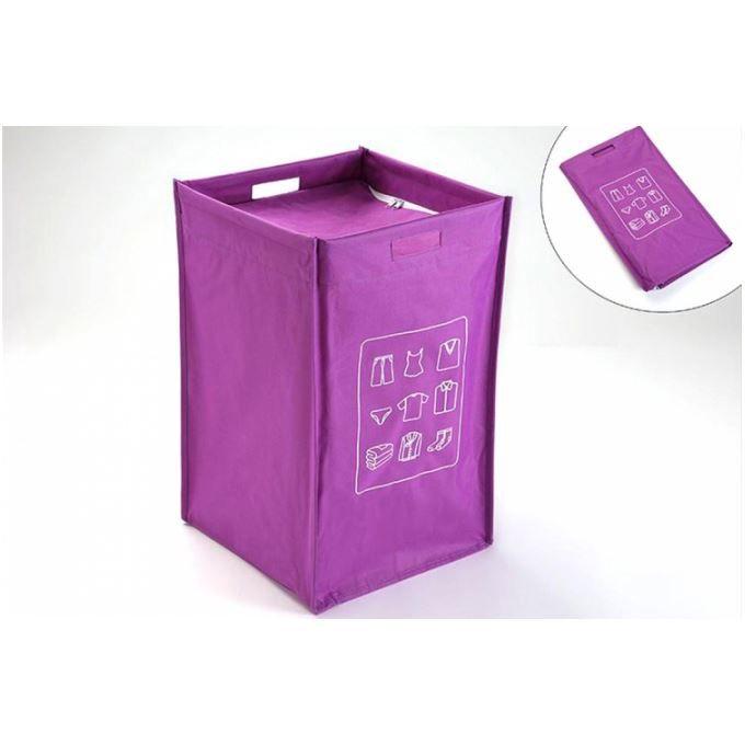 panier linge pliable avec couvercle violet achat vente panier a linge panier linge. Black Bedroom Furniture Sets. Home Design Ideas