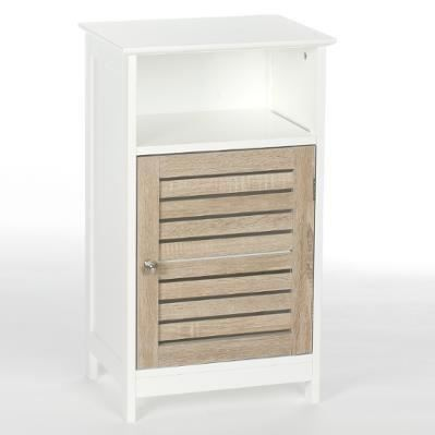 Meuble bas salle de bain blanc achat vente meuble bas for Meuble bas salle de bain 3 portes