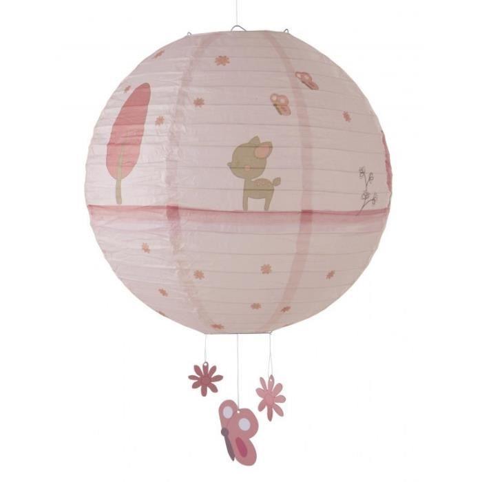 domiva lanterne papier fany rose rose achat vente abat jour 3120760067338 les soldes sur. Black Bedroom Furniture Sets. Home Design Ideas
