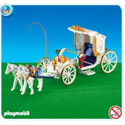 Playmobil 6237 carrosse des mari s achat vente univers miniature cdis - Carrosse de princesse ...