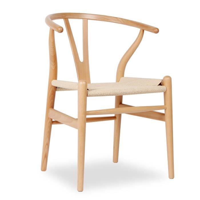 Chaise fer h tre naturel bois h tre unique achat vente for Soldes chaises bois