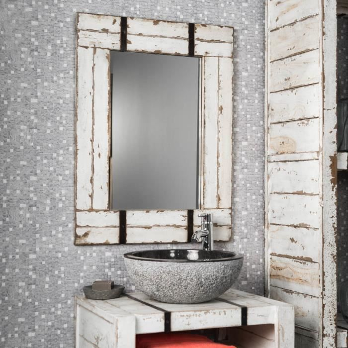 Miroir De Salle De Bain En Mindi 60x80 Loft Achat