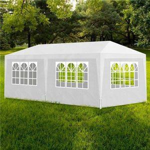 TONNELLE - BARNUM Tente de reception blanche avec 6 murs 3 x 6 m