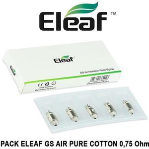ATOMISEUR E-CIGARETTE 5 Résistances / Mèches ELEAF GS AIR 0,75 Ohm PURE