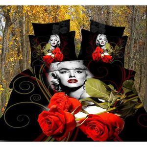 parure de lit avec des roses rouge achat vente parure de lit avec des roses rouge pas cher. Black Bedroom Furniture Sets. Home Design Ideas