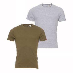 T-SHIRT Lot de 2 tee-shirts col rond Levi's en coton gris