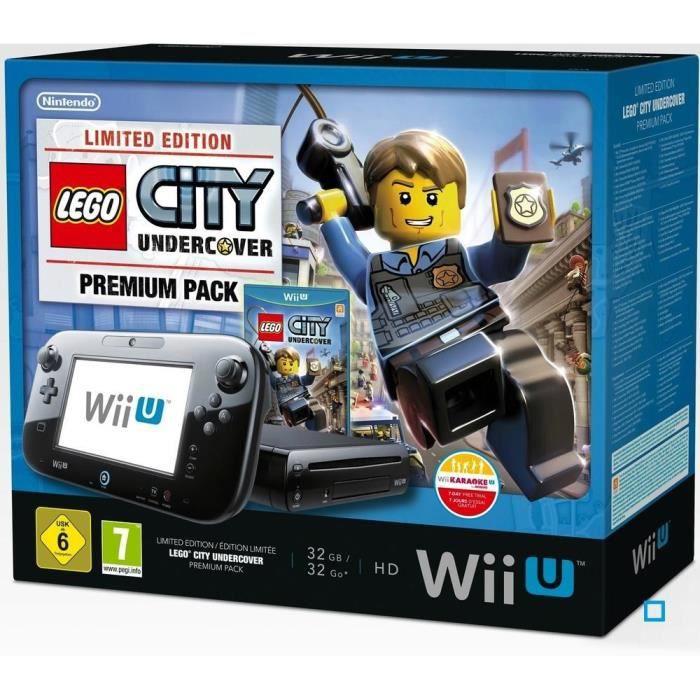 CONSOLE WII U WII U PREMIUM PACK NOIR LEGO CITY UNDERCOVER