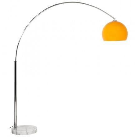 Lampe sur pied design moerol xl en acier chrom grande et orange achat - Lampe cinema sur pied ...
