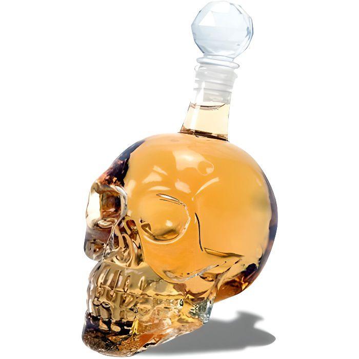 bouteille crystal whisky en t te de mort 500ml shooter. Black Bedroom Furniture Sets. Home Design Ideas