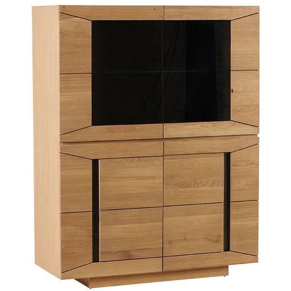 Enfilade ch ne massif vitr e dark meuble house marron achat v - Enfilade chene massif ...