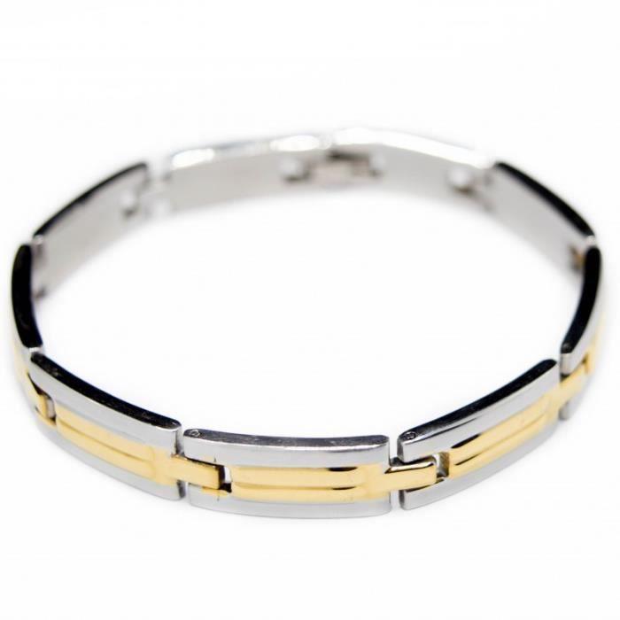 gourmette bracelet acier pour homme achat vente. Black Bedroom Furniture Sets. Home Design Ideas