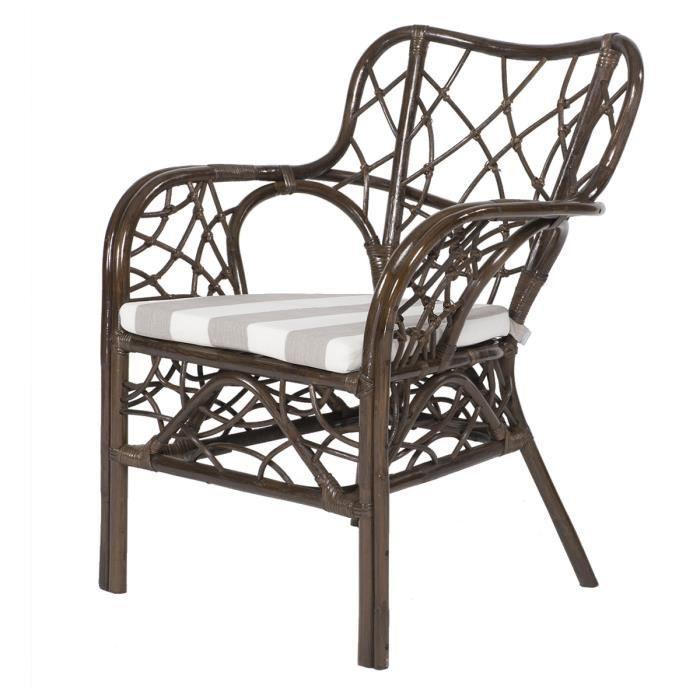 fauteuil chantal rotin couleur caf et cous achat vente fauteuil rotin bambou coton. Black Bedroom Furniture Sets. Home Design Ideas