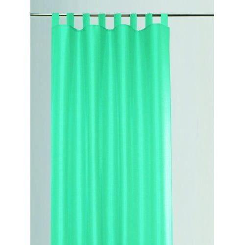 g zze rideau dakar 140x255 cm aspect soie uni turquoise pr t poser 8 passants bande d. Black Bedroom Furniture Sets. Home Design Ideas