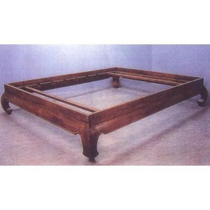 lit indonesien opium en teck 175x215x40 pour c achat vente structure de lit cdiscount. Black Bedroom Furniture Sets. Home Design Ideas