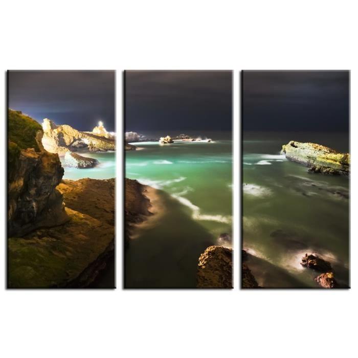 Tableau contemporain biarritz de nuit 3p achat vente tableau toile - Achat tableau contemporain ...