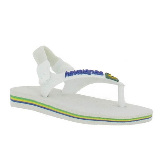 tongs havaianas brasil logo baby blanc blanc achat vente tong cdiscount. Black Bedroom Furniture Sets. Home Design Ideas
