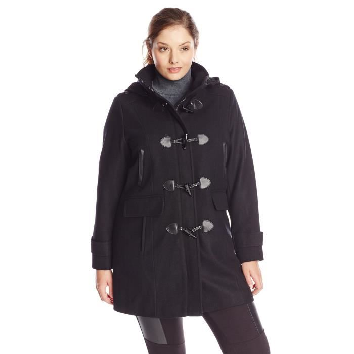 tommy hilfiger laine duffle coat femmes noir achat vente blouson soldes cdiscount. Black Bedroom Furniture Sets. Home Design Ideas