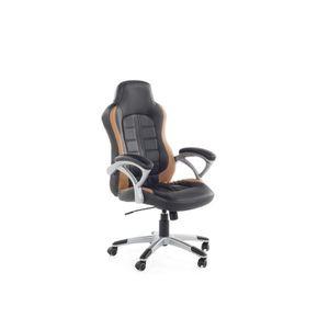CHAISE DE BUREAU Chaise de bureau - Fauteuil gamer noir marron clai