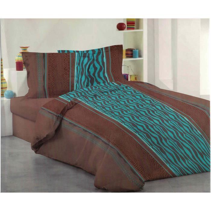 Parure de lit pour 2 personne 3 piece housse couette achat vente parure d - Parure de lit one piece ...