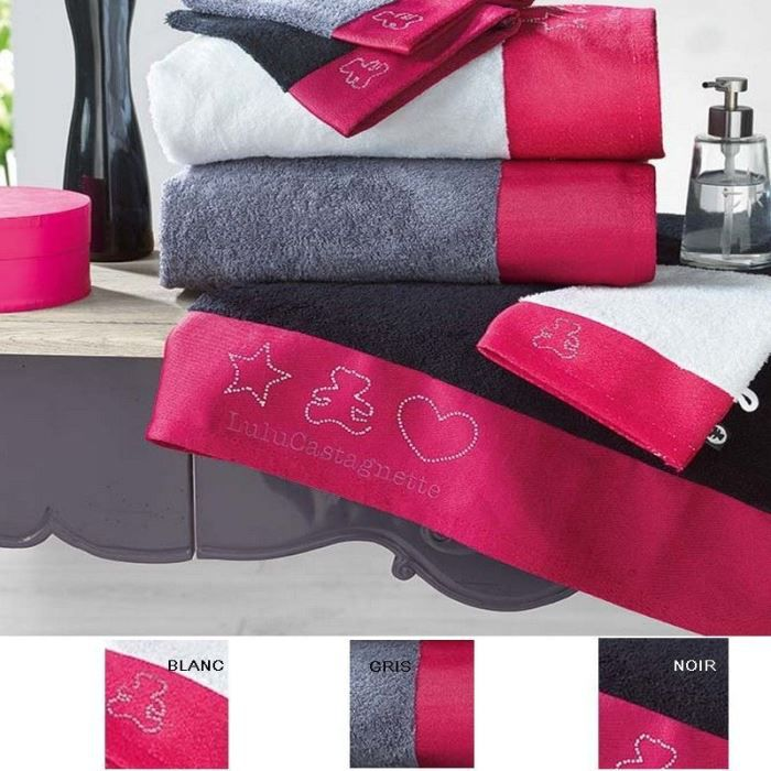 serviette de toilette 50 x 90 ponge lulu achat. Black Bedroom Furniture Sets. Home Design Ideas
