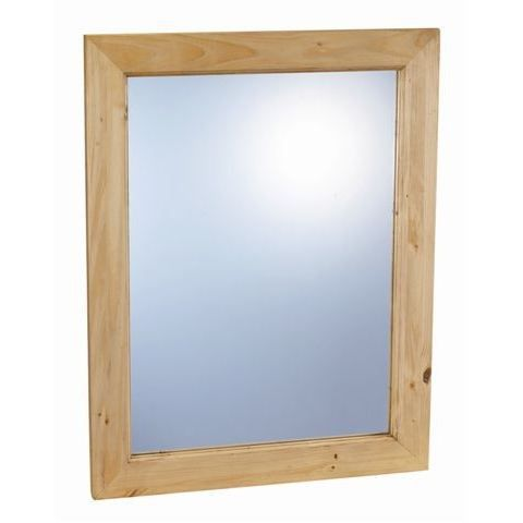 Miroir vertical avec cadre en pin massif achat vente for Miroir vertical