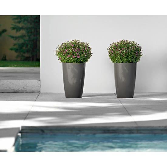 pot ou cache pot rond evas haut santorini 26 c achat vente jardini re pot fleur pot ou. Black Bedroom Furniture Sets. Home Design Ideas