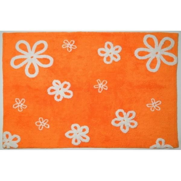 tapis de sol enfant 120x160 cm orange fleurs achat vente tapis soldes d hiver d s le. Black Bedroom Furniture Sets. Home Design Ideas