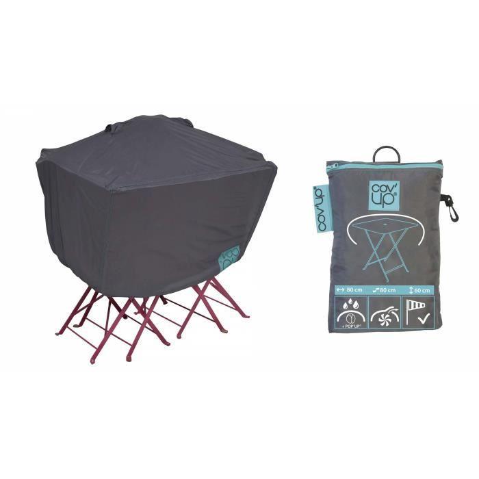 Housse de protection pour table de jardin carr e 80 cm for Housse de protection jardin