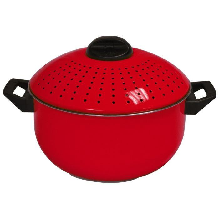 cuit p tes inox rouge 24 cm achat vente cuiseur a riz p tes pradel cuit p tes inox rouge. Black Bedroom Furniture Sets. Home Design Ideas