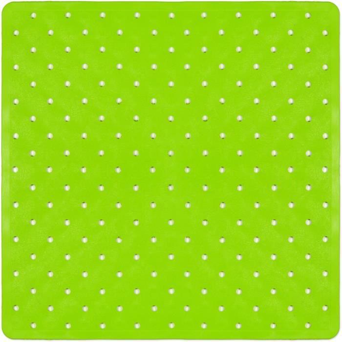 tapis de bain fond de douche vert achat vente tapis de bain cdiscount. Black Bedroom Furniture Sets. Home Design Ideas
