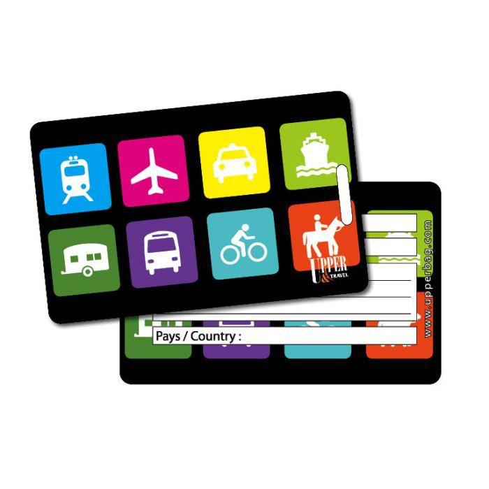 Etiquette bagage picto travel achat vente porte for 1 porte etiquette de voyage
