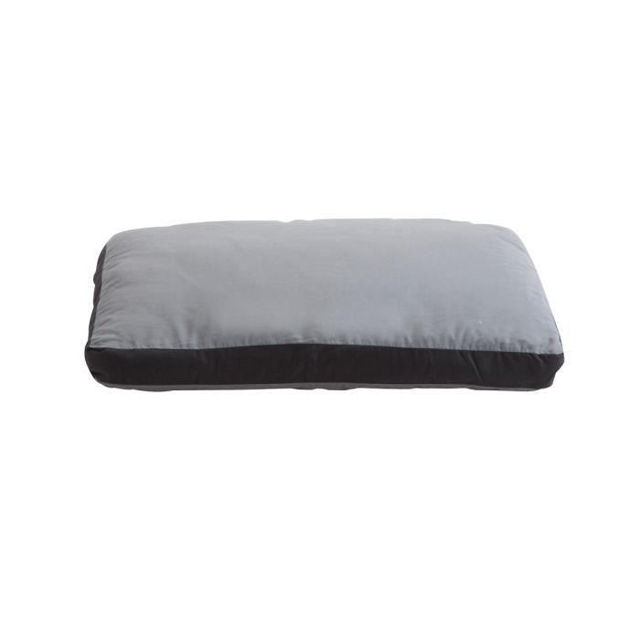 coussin bicolore d houssable noir et gris 53x43cm achat. Black Bedroom Furniture Sets. Home Design Ideas