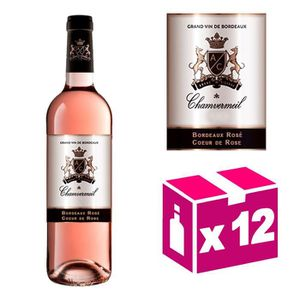 VIN ROSÉ AOC Bordeaux rosé - Coeur de Rose 2015 – 12 boutei
