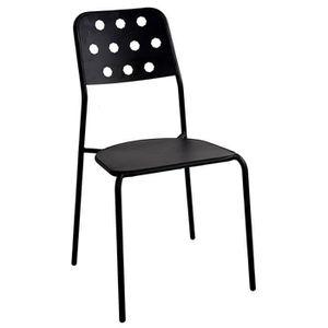 chaise fer noir achat vente chaise fer noir pas cher cdiscount. Black Bedroom Furniture Sets. Home Design Ideas