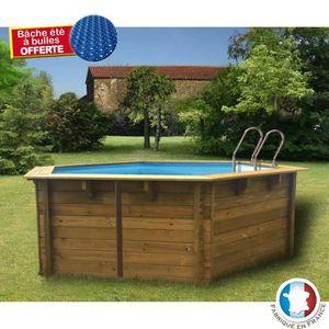 Piscine bois aspect bois achat vente piscine bois for Piscine ronde bois