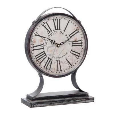 horloge sur pied antiquit m tal noir achat vente horloge cdiscount. Black Bedroom Furniture Sets. Home Design Ideas