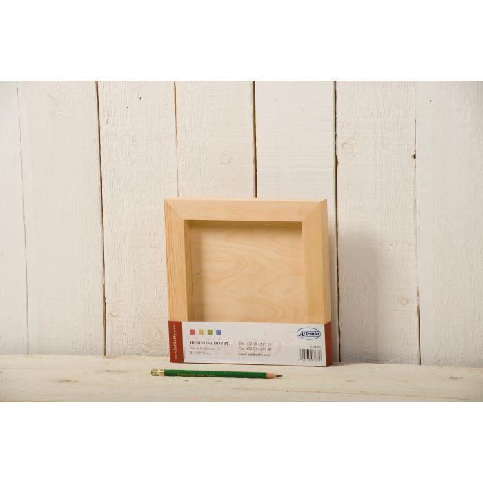 Artemio cadre ch ssis carr en bois 20 cm achat vente cadre photo bois - Cadre photo carre ikea ...