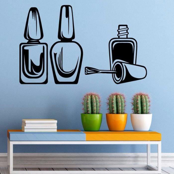 Nail salon vinyle stickers muraux d coratifs autocollants - Stickers muraux salon ...