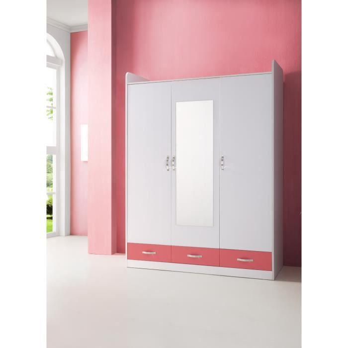 grande armoire chambre enfant 3 portes blanc et achat vente armoire de chambre grande. Black Bedroom Furniture Sets. Home Design Ideas