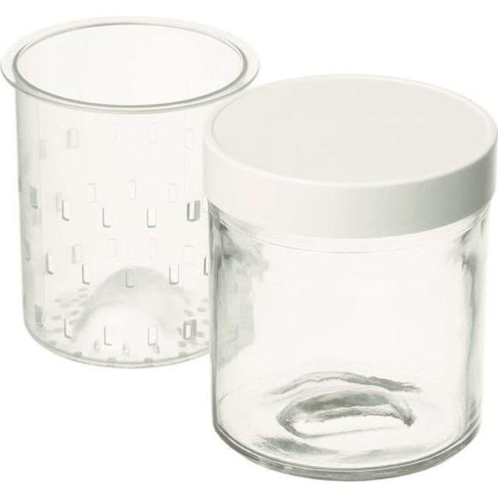 cuisinart lot de 2 pots faisselle ym402e achat vente pi ce pour fait maison cdiscount. Black Bedroom Furniture Sets. Home Design Ideas