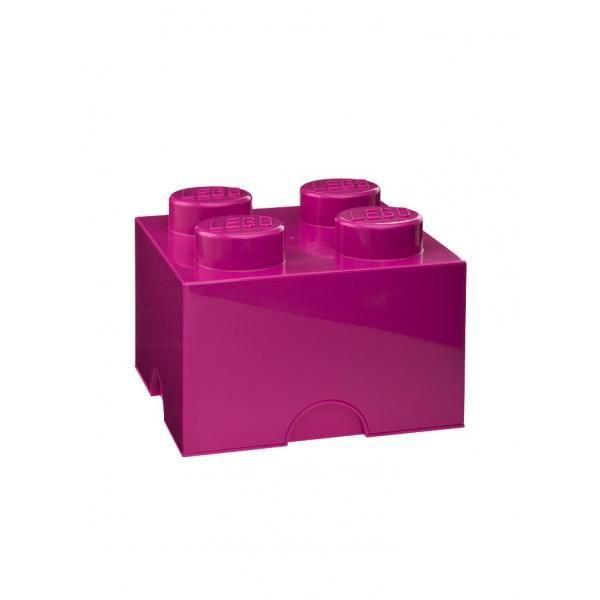 brique de rangement lego 4 plots rose fonc achat vente boite de rangement plastique. Black Bedroom Furniture Sets. Home Design Ideas