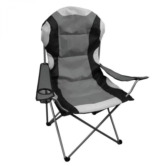 chaise de camping pliable sac de transport gris achat vente etabli meuble atelier. Black Bedroom Furniture Sets. Home Design Ideas