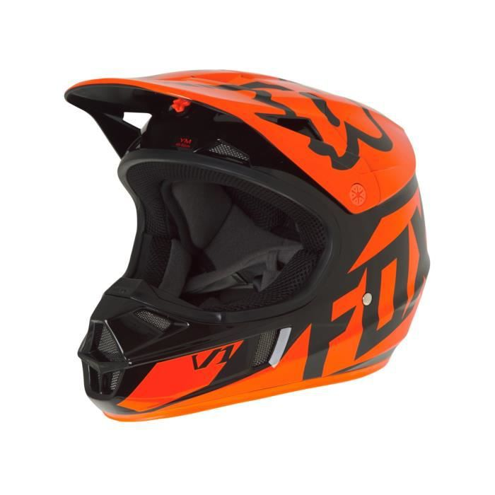 casque motocross enfant fox 2017 v1 race orange achat vente casque moto scooter casque. Black Bedroom Furniture Sets. Home Design Ideas