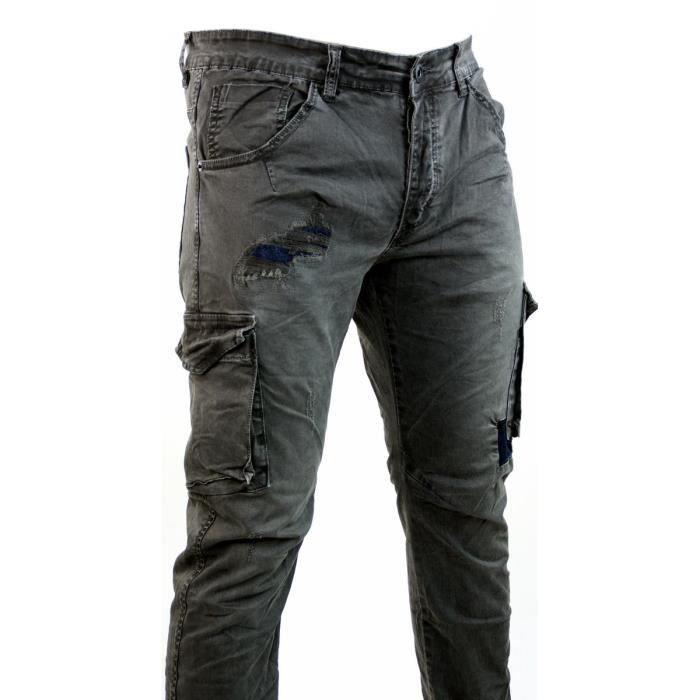 jeans cargo slim homme jeans homme camouflage kaki. Black Bedroom Furniture Sets. Home Design Ideas